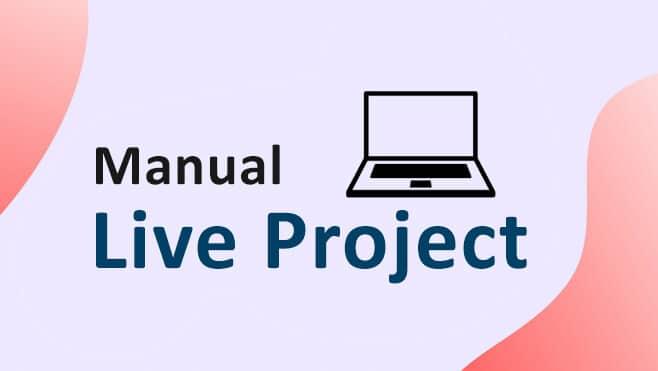 Manual Live Project | Online Training | Classroom | Virtual Classes